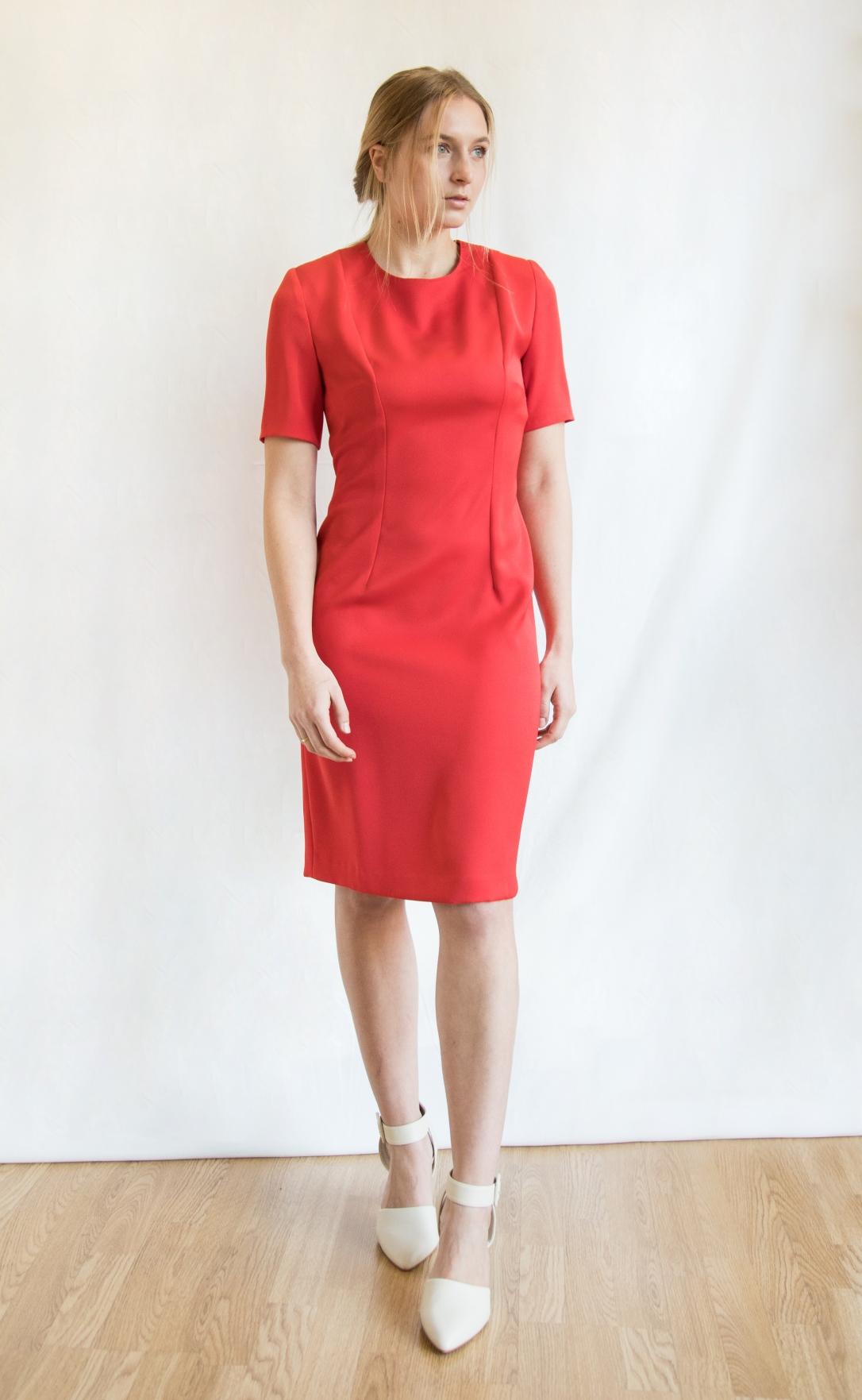 abito seta rosso total