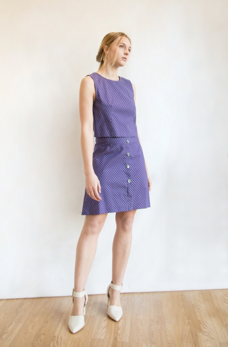cotone viola mini fantasia total