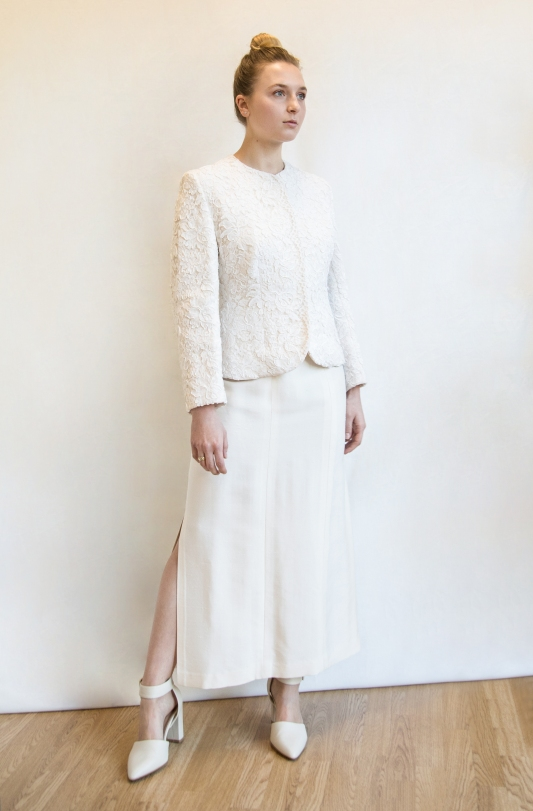 giacca macramè sposa total
