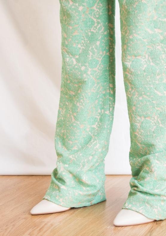 pantalone verde acqua dettaglio