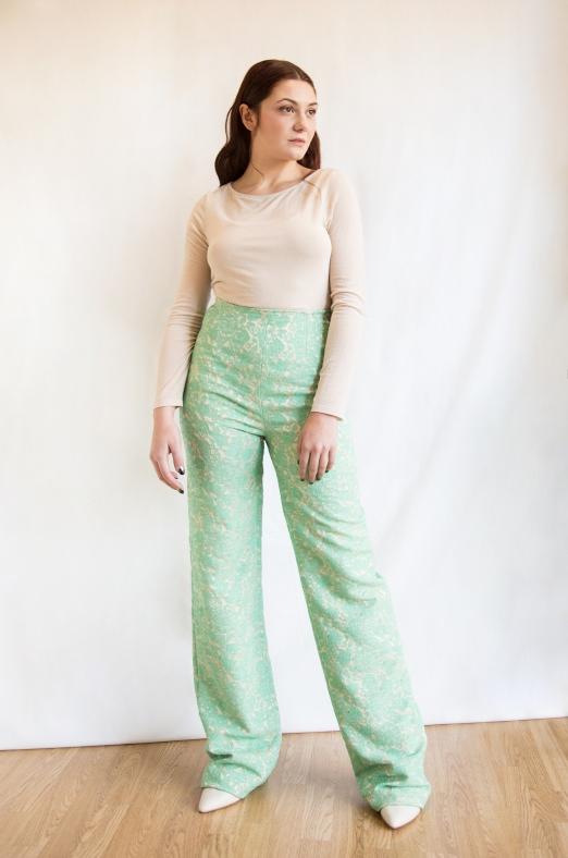 pantalone verde acqua total